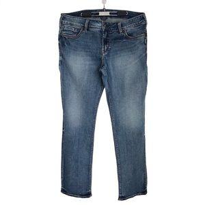 Silver Suki Jeans Straight Leg Denim Pants Plus